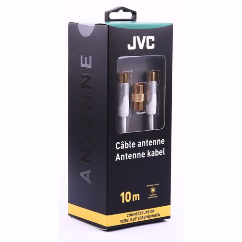 JVC antennekabel COAXIAL CABLE WHITE MALE/MALE ADAPTOR FEMALE/FEMA