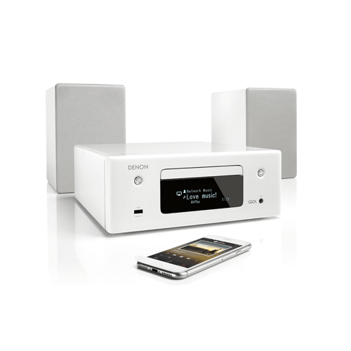 Denon microset CEOL N10 (Wit) Incl. Stereo Speakers
